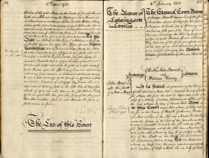 Letheringsett Laviles manor court book 1781, 1785