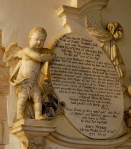 Witton by Walsham: Norris memorial 1769, 1777