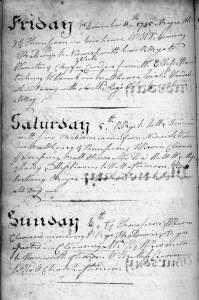 Henry Raven's diary, Dec. 1795