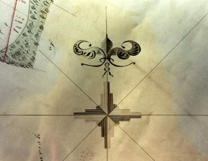 Map of Letheringsett 1834, the compass
