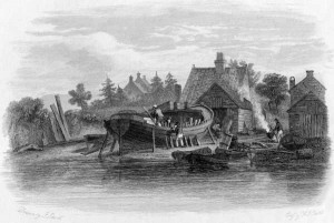 Building a wherry at Carrow, Norwich