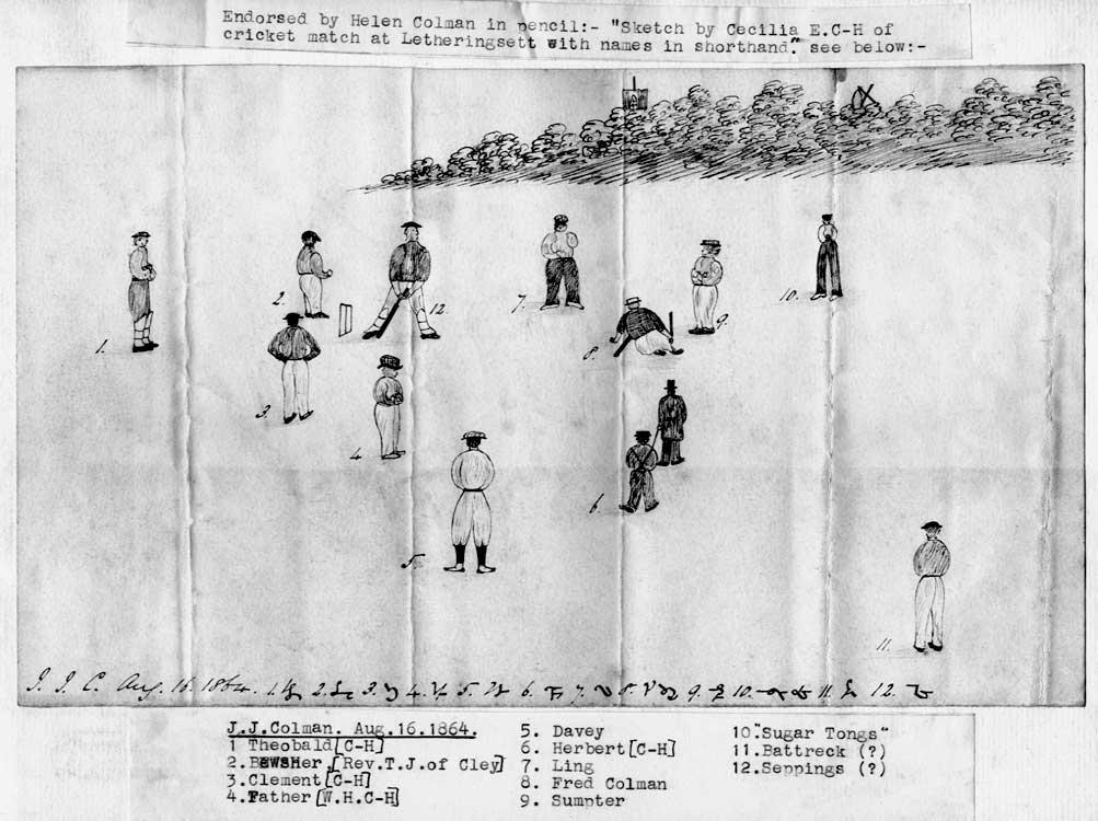 Village cricket match 1864