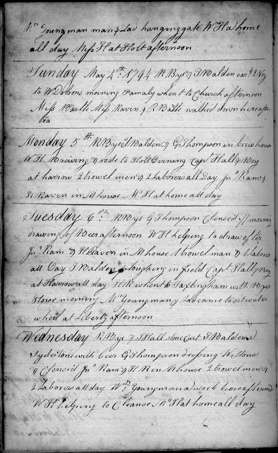 Henry Raven's diary, May 1794