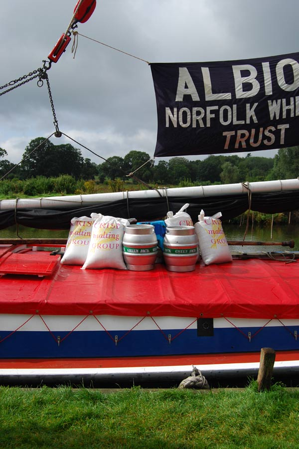 The wherry Albion's cargo, August 2012