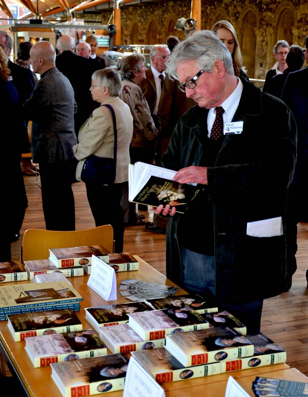 Viewing the books at the launch 2013