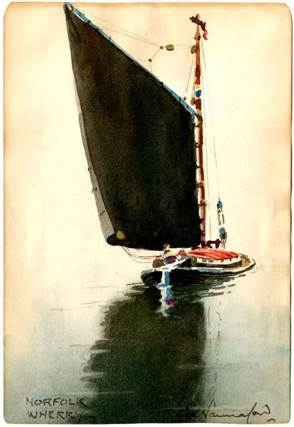 Norfolk Wherry, by C.A. Hannaford 1960
