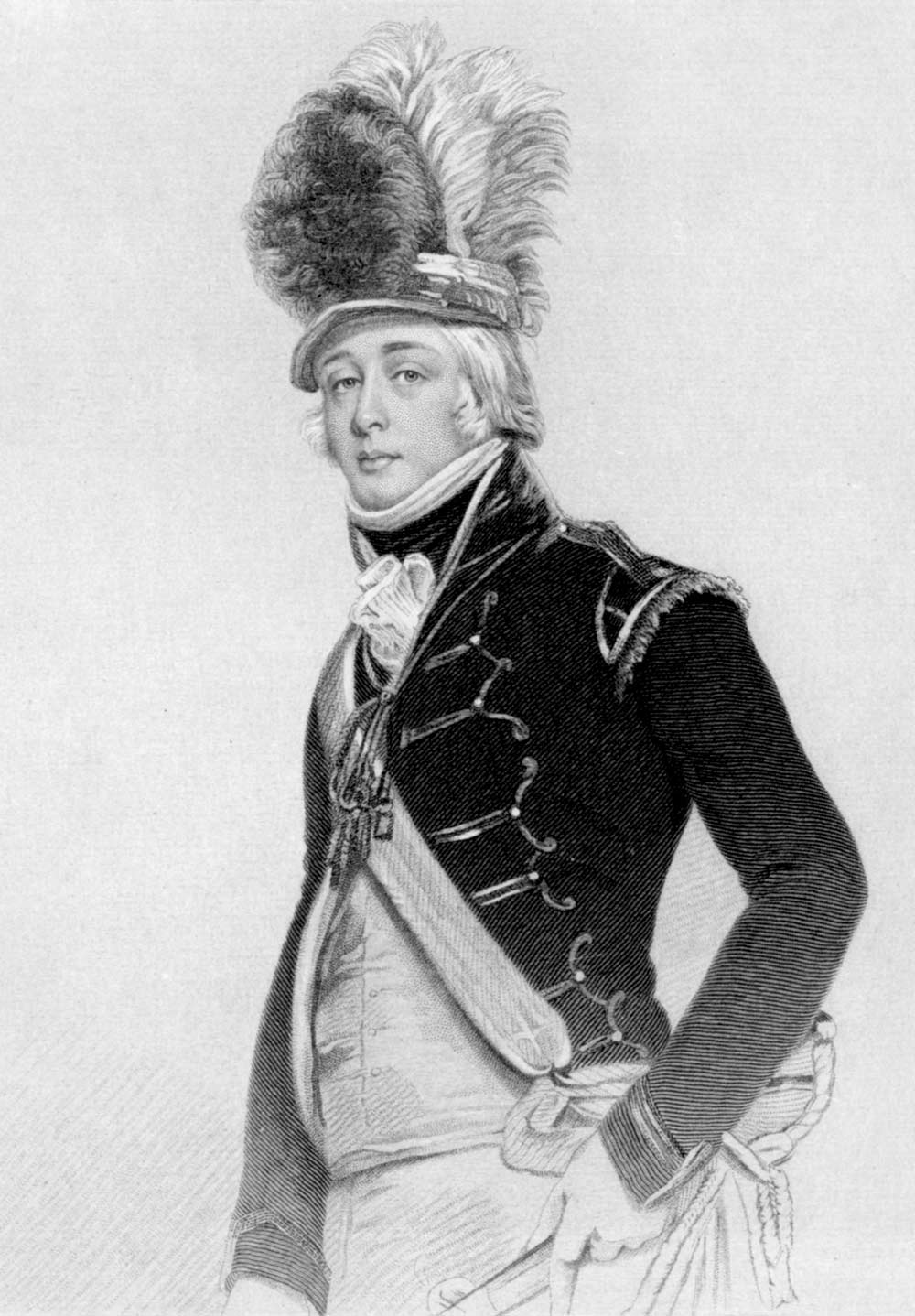 William Palgrave jnr in uniform 1798