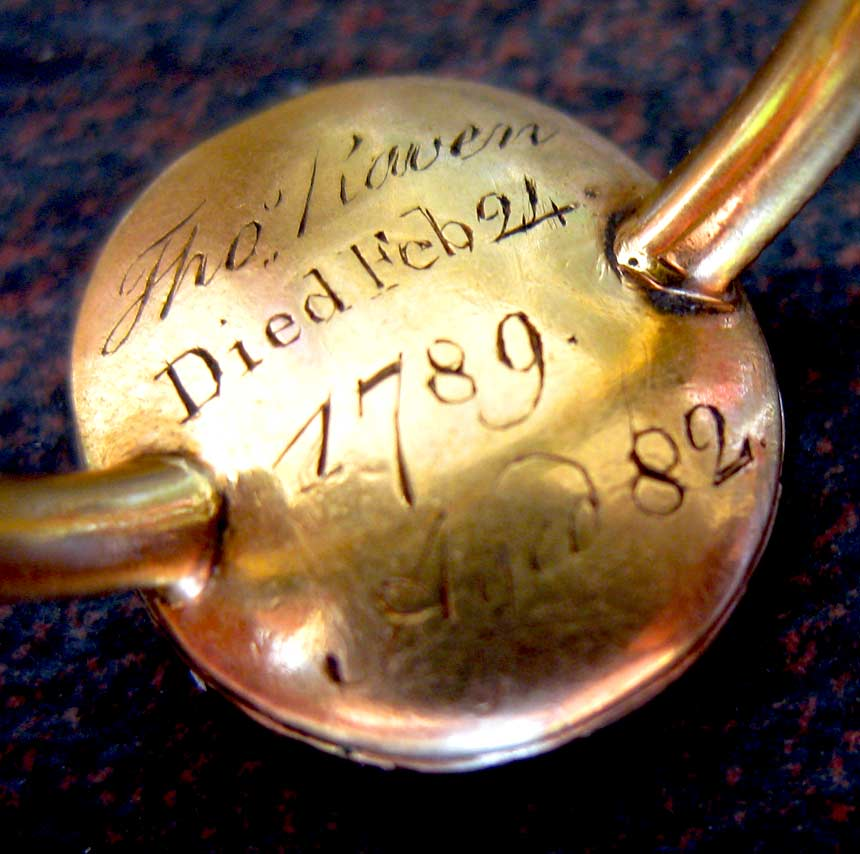 Thomas and Grace Raven's 1789 ring, back