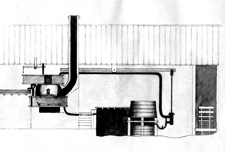 Letheringsett brewery, Mindham drawing detail