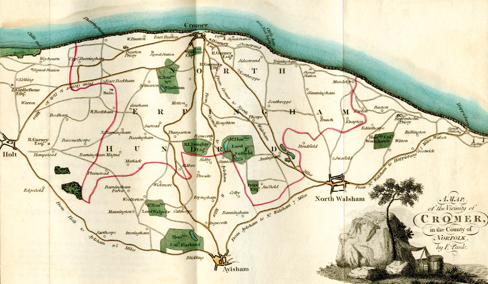 E. Bartell's Cromer map of 1806 by F. Pank
