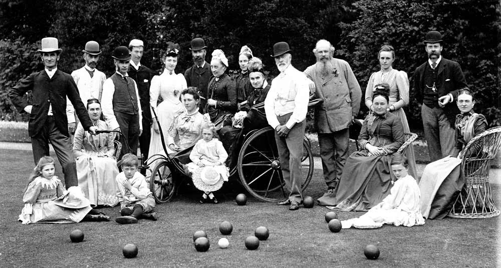 Cozens Hardys at bowls 1890 by A E Coe