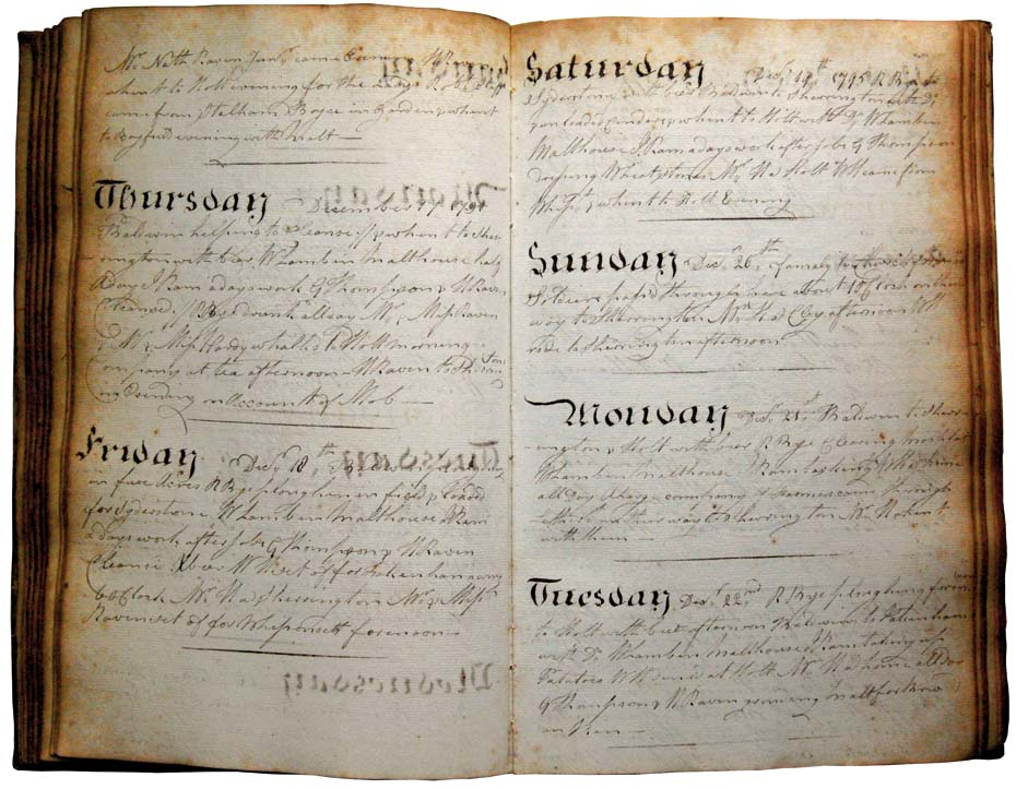 Henry Raven's diary December 1795 riots