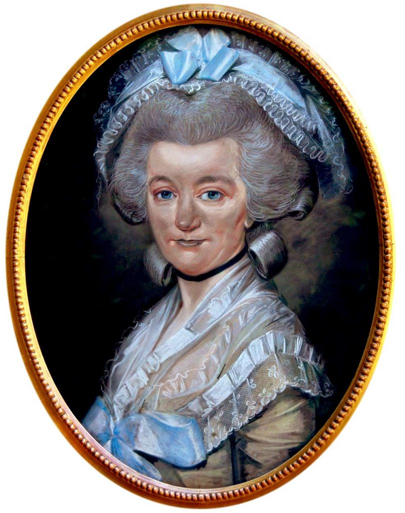 Mary Hardy in 1785 by Huquier
